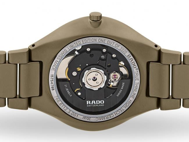 RADO True Thinline Anima Limited Edition Matte Olive-Green Unisex Watch R27112312