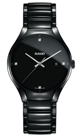 RADO True Diamonds Black High-Tech Ceramic Swiss Quartz Men's Watch R27238722