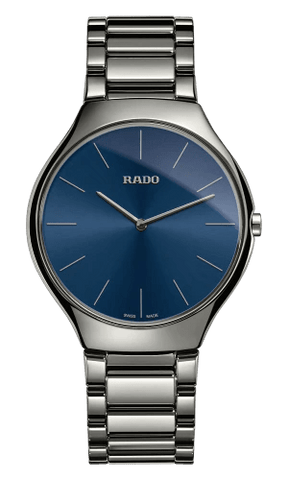 RADO True Thinline Blue Dial Plasma High-Tech Ceramic Men's Watch R27955022
