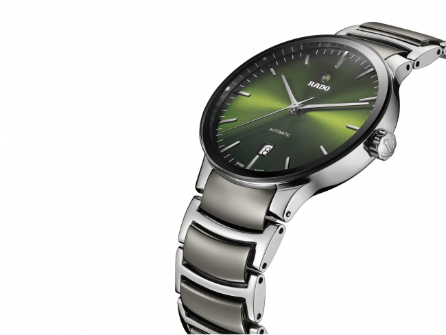RADO Centrix Automatic Green Dial Ceramic Men's Watch R30010312