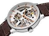 RADO Centrix Automatic Open Heart 38mm Brown Leather Strap Men's Watch R30179105