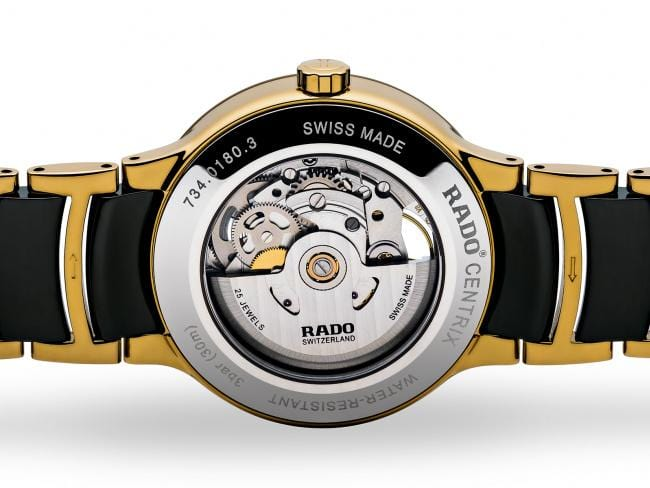 RADO Centrix Automatic Open Heart 38mm Gold-Black Men's Watch R30180162
