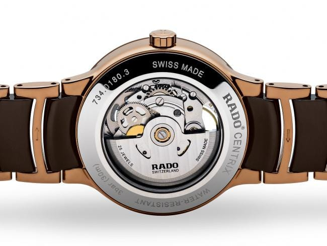 RADO Centrix Automatic Open Heart 38mm Rose Gold-Brown Men's Watch R30181312