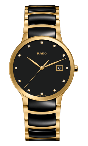 RADO Centrix Diamonds 38mm Black-Gold Men's Watch R30527762