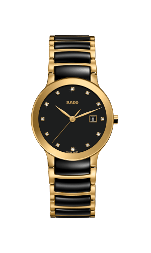 RADO Centrix Diamonds 28mm Ceramic Gold-Black Women's Watch R30528762