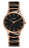 RADO Centrix 38mm Black-Rose Gold Classic Ceramic Men's Watch R30554172