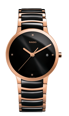 RADO Centrix Diamonds 38mm Rose-Gold PVD-Black Men's Watch R30554712