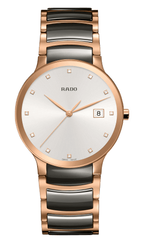 RADO Centrix Diamonds 38mm Plasma High-Tech Ceramic-Rose Gold Men's Watch R30554762