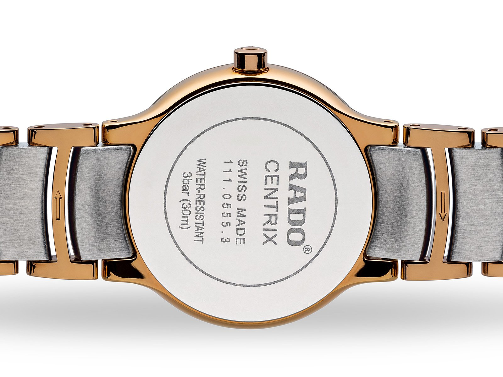 RADO Centrix 28mm Rose-Gold PVD Silver Stainless Steel Women's Watch R30555103