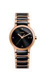 RADO Centrix Diamonds 28mm Rose-Gold PVD-Black Women's Watch R30555712