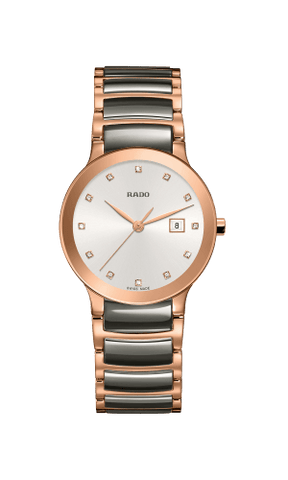 RADO Centrix Diamonds 28mm Plasma High-Tech Ceramic-Rose Gold Women's Watch R30555762