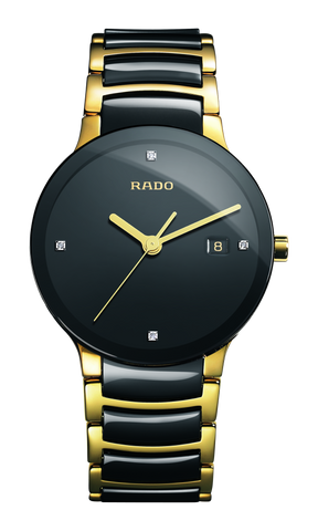 RADO Centrix Diamonds 38mm Gold PVD-Black Men's Watch R30929712