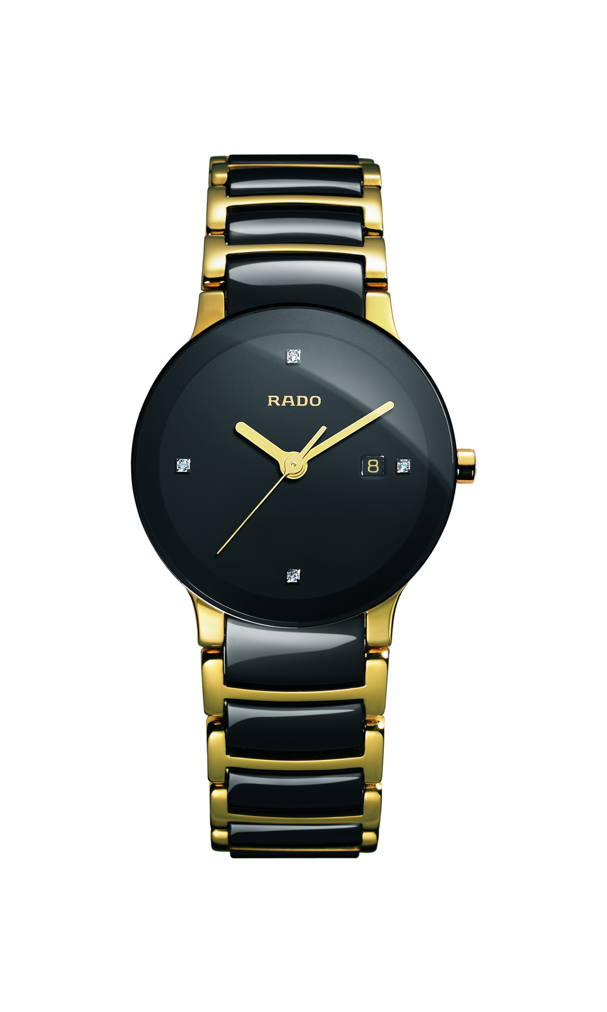 RADO Centrix Diamonds 28mm Gold PVD-Black Women's Watch R30930712