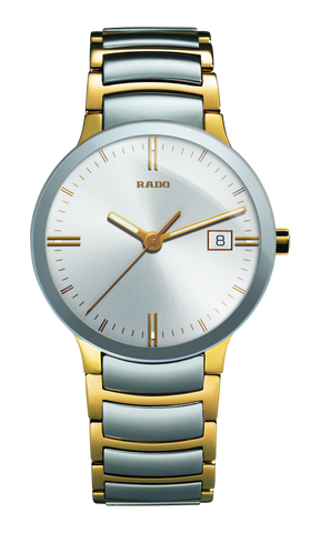 RADO Centrix 38mm Gold-PVD Silver Stainless Steel Men's Watch R30931103