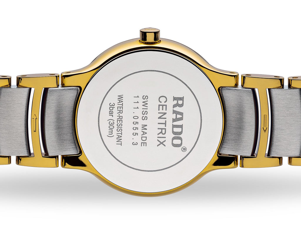 RADO Centrix 28mm Gold-PVD Silver Stainless Steel Women's Watch R30932103