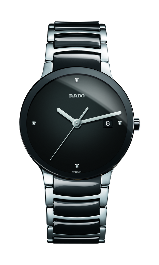 RADO Centrix Diamonds 38mm Black-Silver Men's Watch R30934712