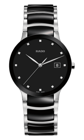 RADO Centrix Diamonds 38mm Black-Silver Men's Watch R30934752
