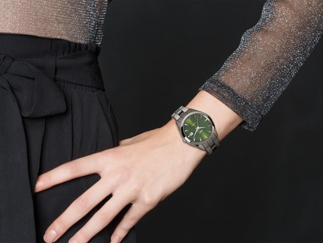 Rado HyperChrome Automatic Green Dial Ceramic Women's Watch R32041312