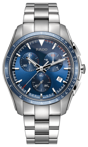 RADO Hyperchrome Chronograph Quartz 44.9mm Blue Dial Men's Watch R32259203