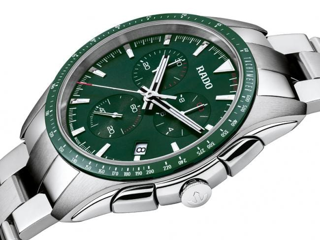 RADO Hyperchrome Chronograph Quartz 44.9mm Green Dial Men's Watch R32259313