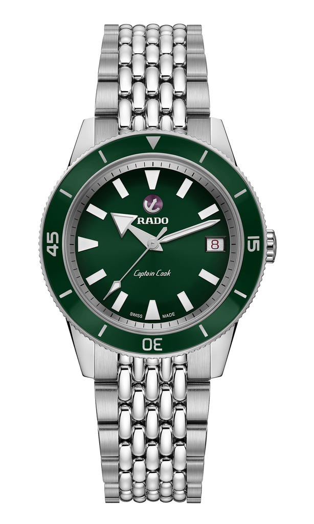 RADO Captain Cook Automatic 37mm Green Dial Stainless Steel Unisex Watch R32500323