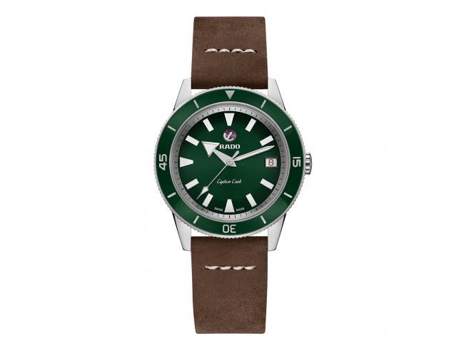 RADO Captain Cook Automatic 37mm Green Dial Travel Set Unisex Watch R32500328