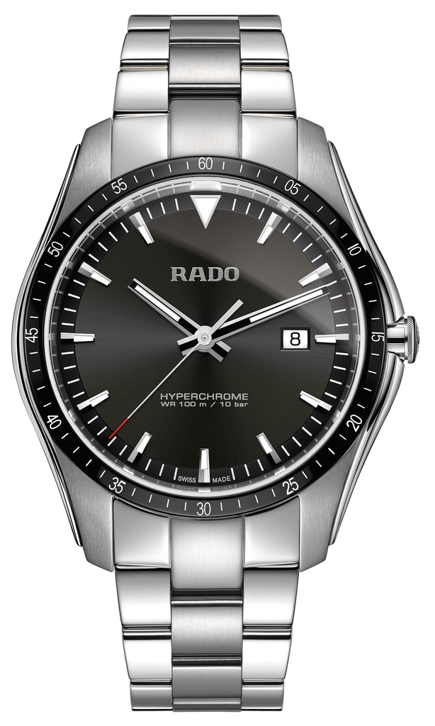 RADO Hyperchrome Quartz 44.9mm Black Dial Men's Watch R32502153