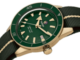 RADO Captain Cook Bronze 42mm Green Dial NATO Strap Men's Watch R32504317
