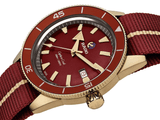 RADO Captain Cook Bronze 42mm Red Dial NATO Strap Men's Watch R32504407