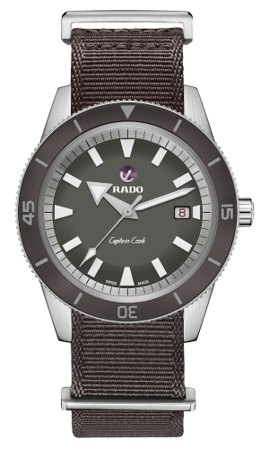 RADO Captain Cook Automatic 42mm Grey Dial Fabric Strap Men's Watch R32505016