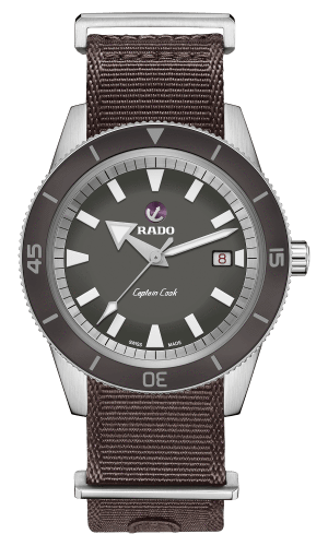 RADO Captain Cook Automatic 42mm Gray Dial Travel Set Men's Watch R32505018
