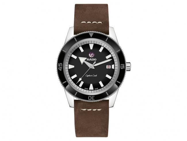 RADO Captain Cook Automatic 42mm Black Dial Travel Set Men's Watch R32505158