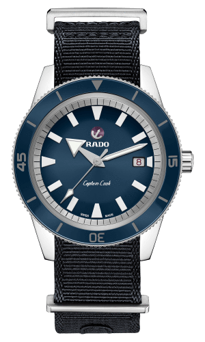 RADO Captain Cook Automatic 42mm Blue Dial Travel Set Men's Watch R32505208