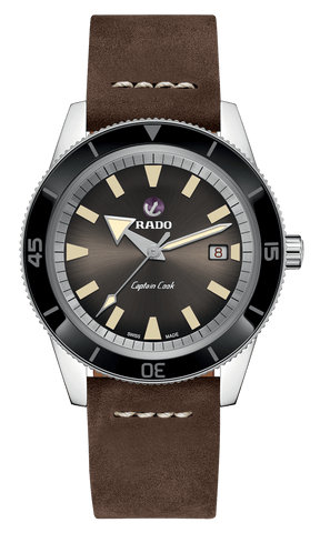 RADO Captain Cook Automatic 42mm Brown Dial Dark Brown Strap Men's Watch R32505305
