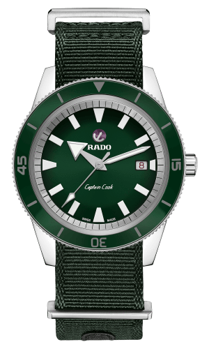 RADO Captain Cook Automatic 42mm Green Dial Travel Set Men's Watch R32505318