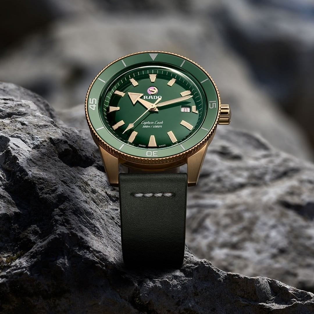 RADO Captain Cook Automatic Bronze 42mm Green Dial Men's Watch R32504315