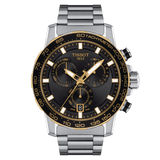 Tissot Supersport Chrono Black-Gold Stainless Steel Men's Watch T1256172105100