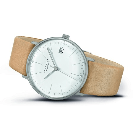 Junghans Max Bill Kleine Automatic 34mm Brown Strap Unisex Watch 027/4004.04