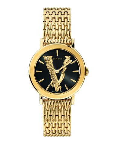 Versace Virtus 36mm Champagne Stainless Steel Women's Watch VEHC00619