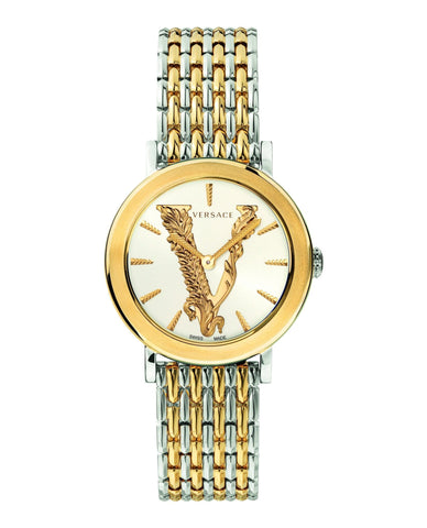 Versace Virtus 36mm Two-Tone Stainless Steel Women's Watch VEHC00719