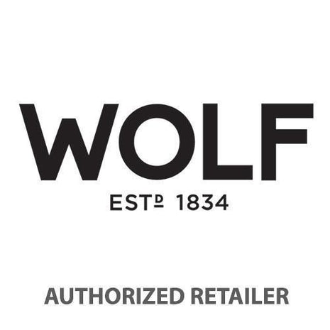 WOLF Vault Tray Glass Lid Gray Leather Finish 435365