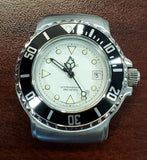 Zodiac Vintage 1990s Dot Silver Dial Black Bezel Divers 30mm Unisex Watch
