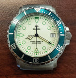 Zodiac Vintage 1990s Luminous Dial Green Indices 38mm Divers Men's Watch