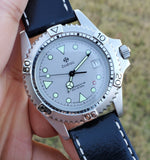 Zodiac Vintage 38mm Grey Dial Sapphire Crystal Quartz 1990s Men's Watch