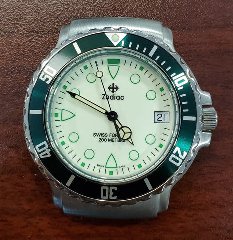 Zodiac Vintage 38mm Luminous Dial Rotating Bezel 1990s Men's Watch