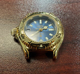 Zodiac Marine Life Professional Vintage Gold-Plated Blue Dial 26mm Women's Watch