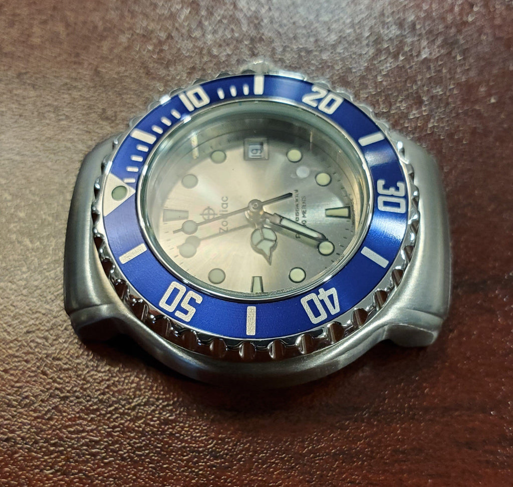 Zodiac Professional Vintage 1990s Silver Sunray Dial Date 30mm Unisex Watch