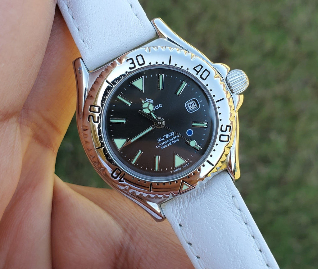 Zodiac Sea Wolf Professional Vintage Grey Sunray Dial 30mm Unisex Watch