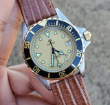 1990s Zodiac Silver Dot 35mm Champagne Dial Men's Watch