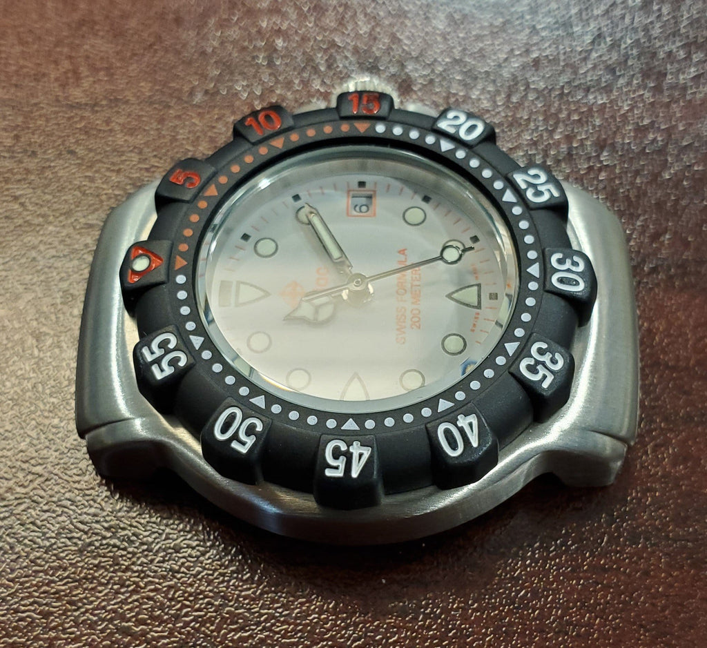 Zodiac Vintage 1990s Grey Dial Divers 30mm Unisex Watch